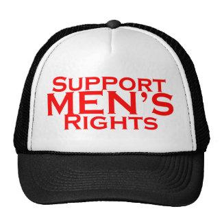 Chapéu dos direitos dos homens do apoio boné