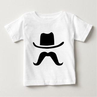 Chapéu e bigode de vaqueiro camiseta para bebê