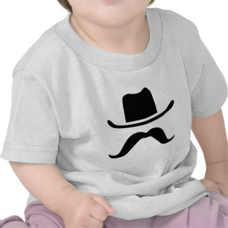 Chapéu e bigode de vaqueiro tshirts