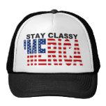 Chapéu elegante do camionista de MERICA da estada
