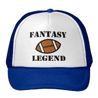 Chapéu engraçado da legenda do futebol da fantasia boné