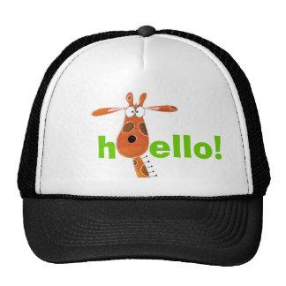 Chapéu engraçado do girafa boné