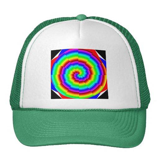Chapéu espiral do arco-íris bonés