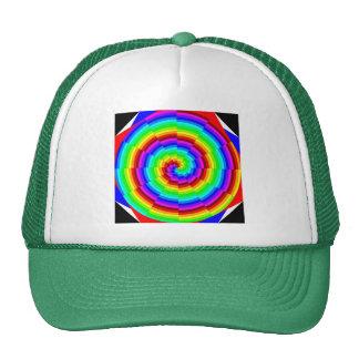 Chapéu espiral do arco-íris boné
