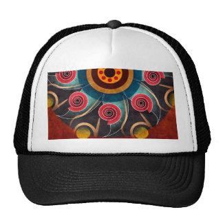 Chapéu floral da arte do vetor do abstrato da cor boné