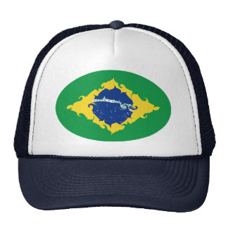 Chapéu Gnarly da bandeira de Brasil Bones