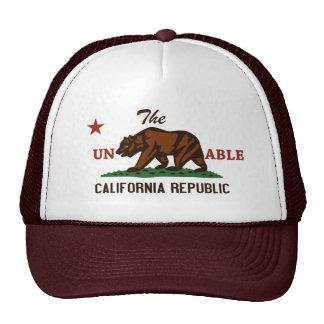 Chapéu insuportável da república de Califórnia Boné
