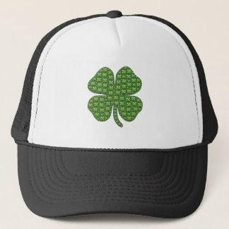 Chapéu irlandês afortunado do camionista do trevo boné