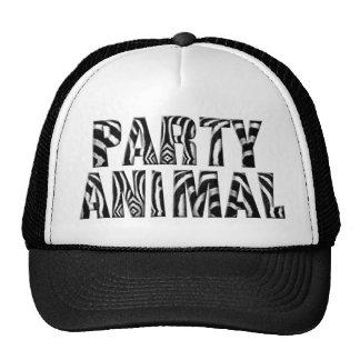 Chapéu listrado do camionista do animal de partido boné