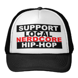 Chapéu local do hip-hop de Nerdcore do apoio Boné