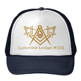 Chapéu maçónico customizável do alojamento boné