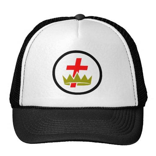 Chapéu maçónico de Templar do cavaleiro Bones