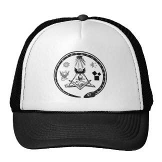 Chapéu maçónico do simbolismo bonés