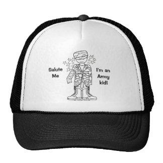 Chapéu militar do miúdo do exército do pirralho (T Boné