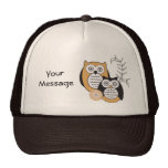 Chapéu moderno do camionista das corujas boné