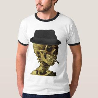 Chapéu mole esqueletal t-shirt