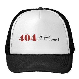 Chapéu não encontrado do cérebro do erro 404 bonés
