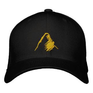 Chapéu negro com logotipo alaranjado bordado boné bordado