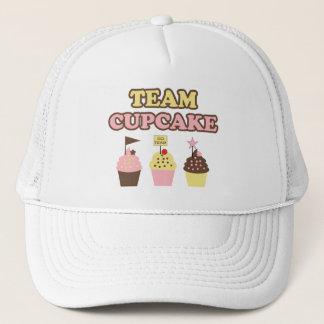 Chapéu ou boné do cupcake da equipe