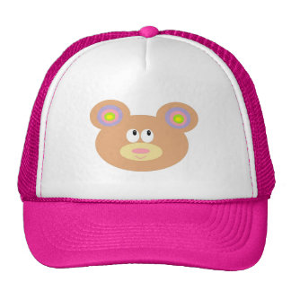 Chapéu pequeno bonito do camionista do urso de urs boné