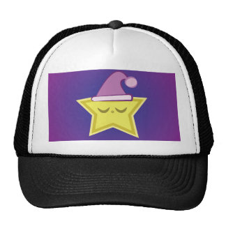 Chapéu pequeno sonolento da estrela boné