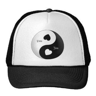 Chapéu personalizado do amor de Yin Yang Boné