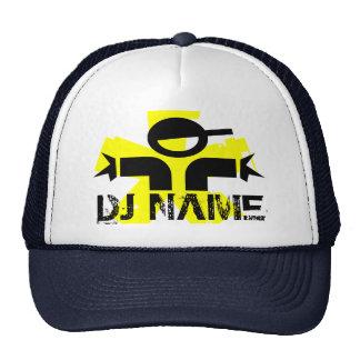 Chapéu personalizado do DJ com nome feito sob enco Boné