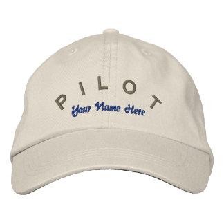 Chapéu piloto do costume do aviador boné bordado