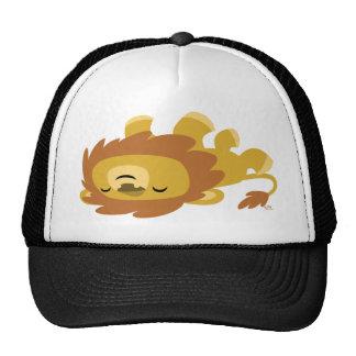 Chapéu preguiçoso do camionista do leão dos desenh boné