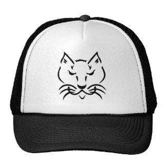 Chapéu preto & branco do gato legal boné