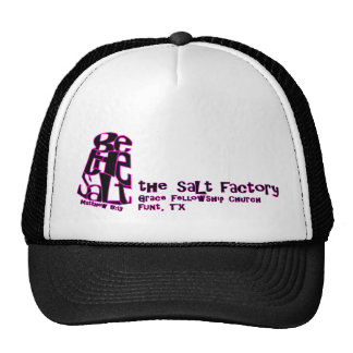 Chapéu preto & cor-de-rosa da fábrica de sal - do  bonés