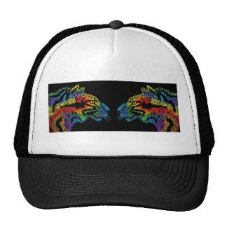 Chapéu (preto) do leopardo do arco-íris boné