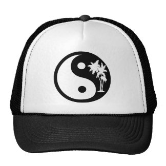 Chapéu preto e branco de Yin Yang da palmeira Boné