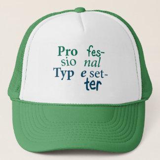 Chapéu profissional do Typesetter Boné