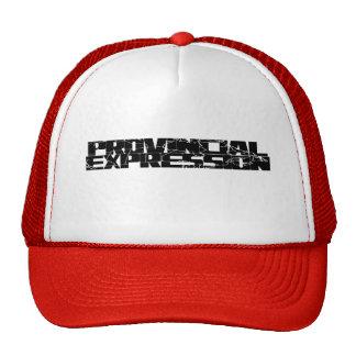 Chapéu provincial do logotipo da expressão boné