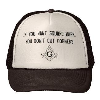 Chapéu quadrado do trabalho boné