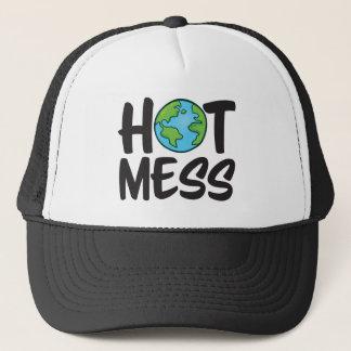 Chapéu quente do camionista da confusão da terra boné