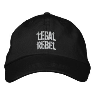 Chapéu rebelde legal boné bordado