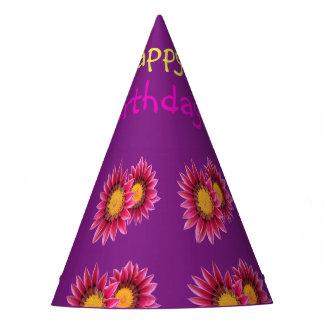 chapéu roxo cor-de-rosa do partido das flores