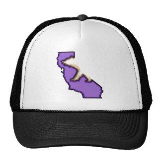 Chapéu roxo do símbolo de estado de Califórnia do  Boné