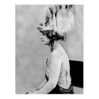 Chapéu selvagem da pena, 1900s adiantados cartão postal