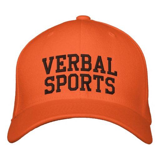 Chapéu verbal do fã de esportes bonés