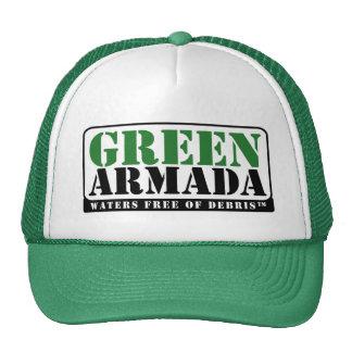 Chapéu verde do camionista da armada bones