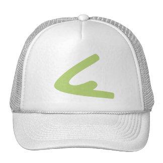 Chapéu verde do camionista do logotipo boné