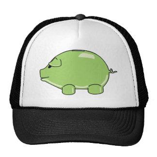 Chapéu verde do porco boné