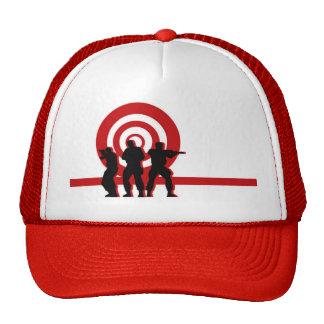 Chapéu vermelho das forças armadas do alvo boné