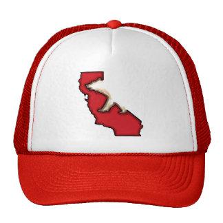 Chapéu vermelho do símbolo do urso do estado de Ca Bones