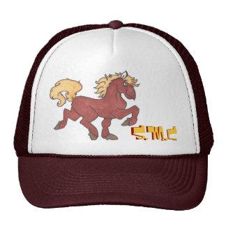 """chapéu vermelho """"smc """" do cavalo boné"""
