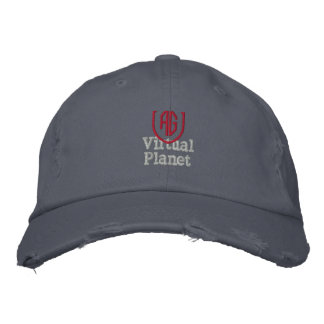 Chapéu virtual do azul de Scotland do planeta Boné Bordado