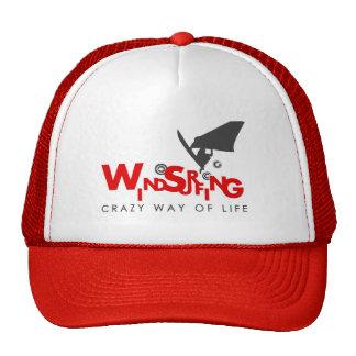 Chapéu Windsurfing do vermelho e o branco Boné